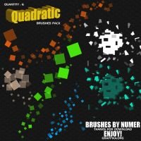 Quadratic Brushes Pack by shapemaster
