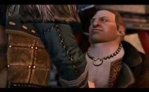 DA2 - Varric Punches Anders by KathTea-Katastrophy