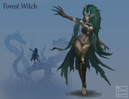 Forest Witch Concept by dima-sharak