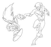 Sonic and Flash Fist Bump by robnix