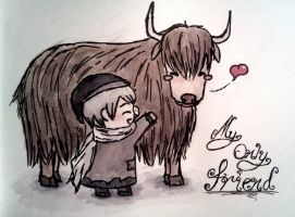 Russia and his Yak friend by mell1you0