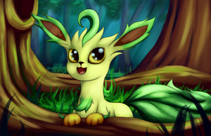Leafeon by Grennadder
