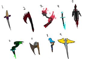 Medieval Weapon Adopts CLOSED by ShadowhawkArt