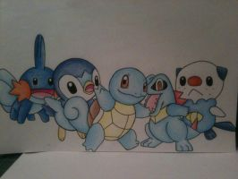 Pokemon Water Starters by sazmullium