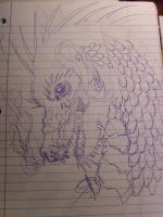 loosely sketched dragon by Neko--Chana