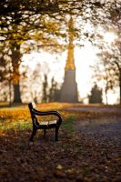 Bench and Monument by Captain-Marmote