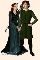 Merida and Hiccup (LOTR/Hobbit version) by Petalouda85