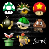 mario icons by afronoodles