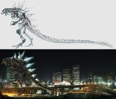 Godzilla skeleton by cheungchungtat