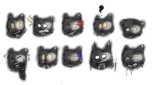 BtS - Raven's Expressions by Rainmask19