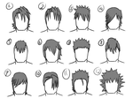 12 male hairstyles by gamertjecool