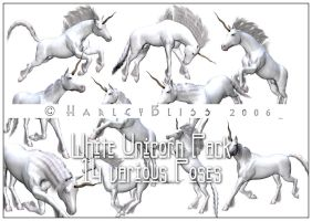 White Unicorn Pack by HarleyBliss