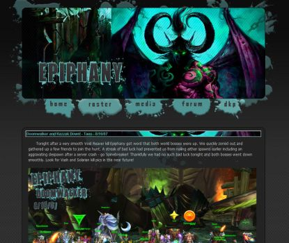 WoW Guild Website - Epiphany by Taeo