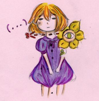 Aliza and Flowey from Horrortale by Potworek19