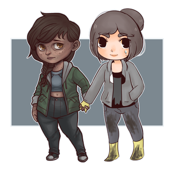 [Collab]: Maxine and Annie by BleedingHeartworks