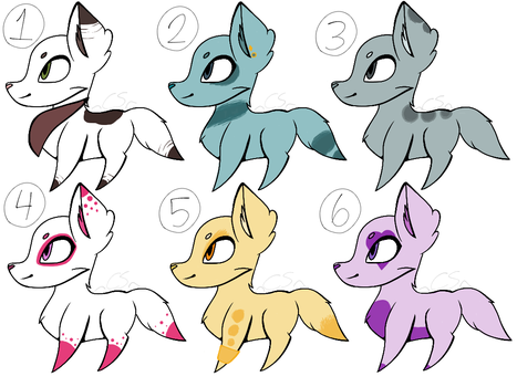 Dog adopts with set prices. ((OPEN)) by PrettyPeachAdopts