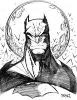 Morning Sketch - Batman 01 by RobDuenas