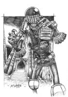 Judge Death drawing by FortriuPict