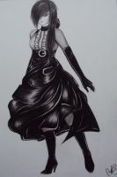 black and white dress by carlos0003