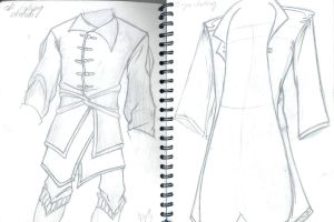 Elven-like Clothing by Delamontre