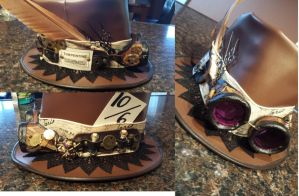 Tripped out Steampunk hat by CaptainMorganTeague
