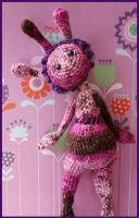 Alien crochet doll by DarkRaven17