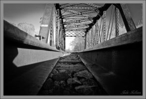 Laying on the Tracks by FallesenPhotography