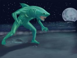 Sharkman Cometh by Newbeing