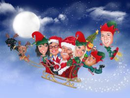 Christmas Caricature by LCArtDesign