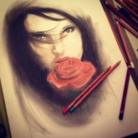 Girl with rose by tomylee54