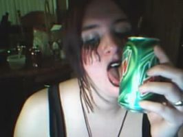 Raven and her Mtn.Dew by DaughterOfShadows