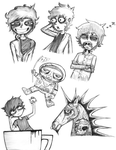 Tired Eyes - Sketch Compilation by Art-Josh