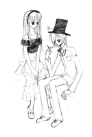 Alyss and Hatter by SilentSeraphim