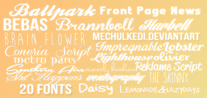 Font Pack #1 by mechulkedi