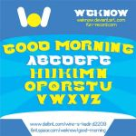 Good Morning font by weknow by weknow