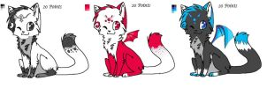 Cat Adoptables OPEN!! by Dugters