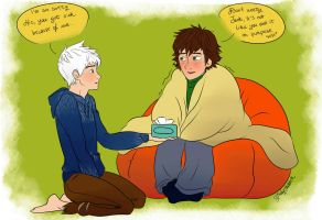 Too much cuddles lead to a sick Hiccup by Laven96