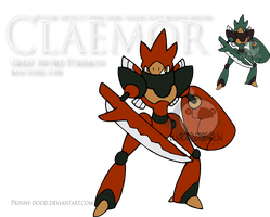 Fake Pokemon - Claemor by Prinny-Dood