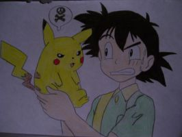 Ash and Pikachu by AJLeefan4life