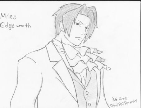 Miles Edgeworth by BloodRedRaven69