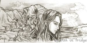 End of First Age (Maedhros and Maglor) by fish-in-fridge