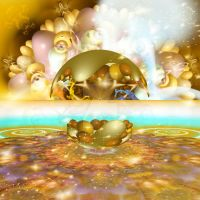 Golden bubbles and blobs by DoloresMinette