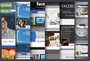 45+ Stunning Facebook Timeline Templates by CursiveQ-Designs