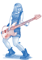 Bass player by WTFmoments