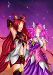 Glitter Love - Jinx x Lux by Fralle-chan