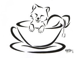 A cup of fox by PanHesekielShiroi