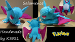 Salamence Plush by K3RI1