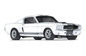 1966 Ford Mustang Shelby GT350R Drawing by Vertualissimo
