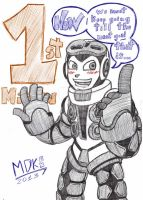MIGHTY No9 - 1ST MILION OVER NOW - COLOR by mdkex
