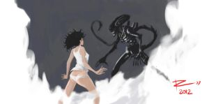RIPLEY VS THE OCTAVE PASSENGER by Augusto-Rubio